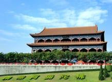El gran pasillo de los buddhaâs Imagen de archivo libre de regalías