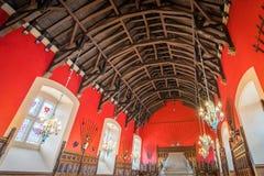 El gran pasillo en el castillo de Edimburgo, Escocia foto de archivo