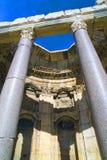 El gran patio del templo de Júpiter, Baalbek Fotografía de archivo
