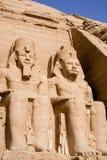 El gran templo de Abu Simbel Imágenes de archivo libres de regalías