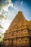 El gran templo de Brihadeeswara de Tanjore imagen de archivo