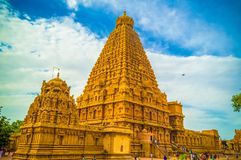 El gran templo de Brihadeeswara de Tanjore fotografía de archivo libre de regalías