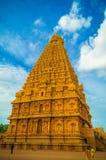 El gran templo de Brihadeeswara de Tanjore fotografía de archivo