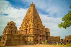 El gran templo de Brihadeeswara de Tanjore fotos de archivo libres de regalías