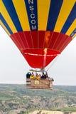 El gran vuelo Cappadocia del globo es los mejores lugares a volar con los globos del aire caliente Imagenes de archivo