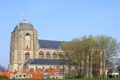 El grande o nuestra señora Church en la ciudad holandesa Veere Fotos de archivo