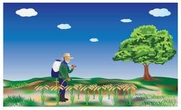 El granjero ilustración del vector