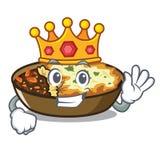El gratén del rey se cuece en horno de la historieta ilustración del vector