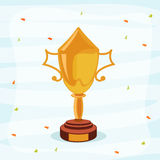 El grillo se divierte concepto con el trofeo que gana Imagen de archivo