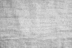El gris arrugó textura de la materia textil del paño Fotografía de archivo libre de regalías