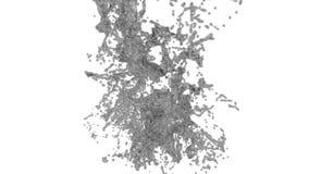 El gris grande salpica en la cámara lenta con el DOF Agua coloreada libre illustration