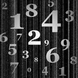 El gris numera el fondo Fotografía de archivo