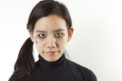 El griterío compone a la mujer Imagenes de archivo