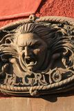 """""""El Grito de Dolores"""" Mexican Wall Metal Decoration on a Sun royalty free stock photography"""