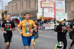 El Grito 5K. Chicago, Illinois , USA - September 9, 2018, El Grito 5K at la Villita, family run walk, men and women running in the annual 5 kilometers race royalty free stock images