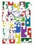 El grunge abstracto modela el fondo Imagen de archivo libre de regalías