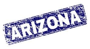 El Grunge ARIZONA enmarcó el sello redondeado del rectángulo stock de ilustración