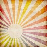 El grunge colorido irradia el fondo Foto de archivo