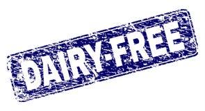 El Grunge DAIRY-FREE enmarcó el sello redondeado del rectángulo stock de ilustración