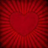 El Grunge irradia el fondo con el corazón Imagen de archivo libre de regalías