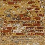 El Grunge resistió a rojo de la pared de ladrillo con el blanco gris Fotos de archivo