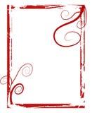El grunge rojo remolina marco Fotografía de archivo