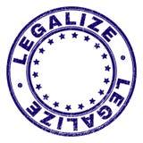 El Grunge texturizó LEGALIZA el sello redondo del sello stock de ilustración