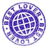 El Grunge texturizó el MEJOR sello del sello del AMANTE stock de ilustración