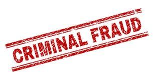 El Grunge texturizó el sello CRIMINAL del sello del FRAUDE ilustración del vector