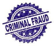 El Grunge texturizó el sello CRIMINAL del sello del FRAUDE libre illustration