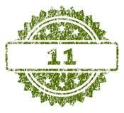 El Grunge texturizó el sello de 11 sellos Ilustración del Vector
