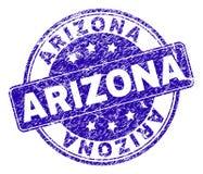 El Grunge texturizó el sello del sello de ARIZONA ilustración del vector