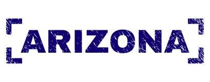 El Grunge texturizó el sello del sello de ARIZONA dentro de esquinas ilustración del vector