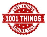 El Grunge texturizó el sello del sello de 1001 COSAS ilustración del vector
