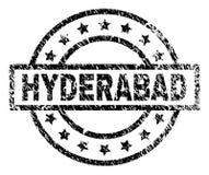 El Grunge texturizó el sello del sello de HYDERABAD stock de ilustración