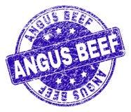 El Grunge texturizó el sello del sello de la CARNE DE VACA de ANGUS libre illustration