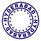 El Grunge texturizó el sello del sello de la ronda de HYDERABAD libre illustration