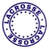 El Grunge texturizó el sello del sello de la ronda de LACROSSE ilustración del vector