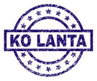 El Grunge texturizó el sello del sello del knock-out LANTA ilustración del vector