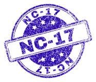El Grunge texturizó el sello del sello NC-17 stock de ilustración