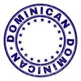 El Grunge texturizó el sello redondo DOMINICANO del sello libre illustration