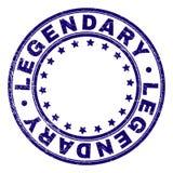 El Grunge texturizó el sello redondo LEGENDARIO del sello ilustración del vector