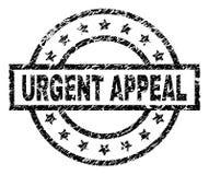 El Grunge texturizó el sello URGENTE del sello de la SÚPLICA ilustración del vector
