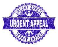 El Grunge texturizó el sello URGENTE del sello de la SÚPLICA con la cinta ilustración del vector