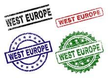 El Grunge texturizó sellos del sello de EUROPA DEL OESTE libre illustration
