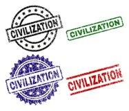 El Grunge texturizó sellos del sello de la CIVILIZACIÓN stock de ilustración