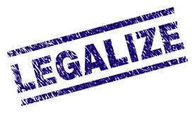 El Grunge texturizado LEGALIZA el sello del sello ilustración del vector