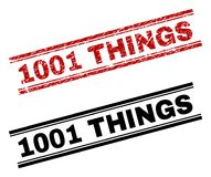 El Grunge texturizado y limpia 1001 impresiones del sello de las COSAS ilustración del vector