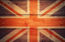 El Grunge une la bandera del reino Imágenes de archivo libres de regalías