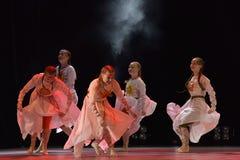 El grupo abierto de la danza del ` s de los niños de la danza Festival-2016 realiza eslavo Foto de archivo libre de regalías
